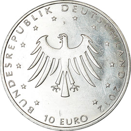 GERMANY - FEDERAL REPUBLIC, 10 Euro, 2012, BE, AU(50-53), Silver, KM:310