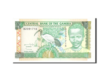 Banknote, Gambia, 10 Dalasis, 1996, Undated, KM:17a, UNC(65-70)