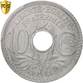 Coin, France, 10 Centimes, 1941, Paris, PCGS, MS65, MS(65-70), Zinc, KM:897