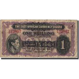 Banknote, EAST AFRICA, 1 Shilling, 1943, 1943-01-01, KM:27, VF(20-25)