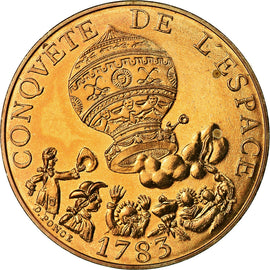 Coin, France, La conquête, 10 Francs, 1983, MS(65-70), Nickel-Bronze, KM:952