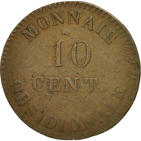 Coin, France, 10 Centimes, 1814, Anvers, VF(20-25), Bronze, Gadoury:191b