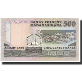 Banknote, Madagascar, 500 Francs = 100 Ariary, Undated (1988-94), KM:71b