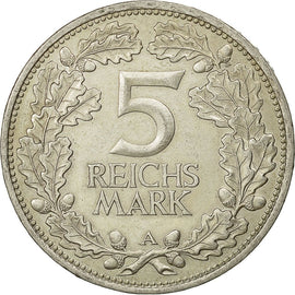Coin, GERMANY, WEIMAR REPUBLIC, 5 Reichsmark, 1925, Berlin, AU(55-58), Silver