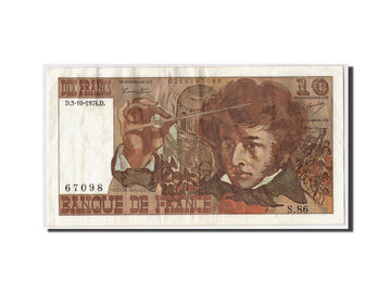 Banknote, France, 10 Francs, 10 F 1972-1978 ''Berlioz'', 1974, 1974-10-03