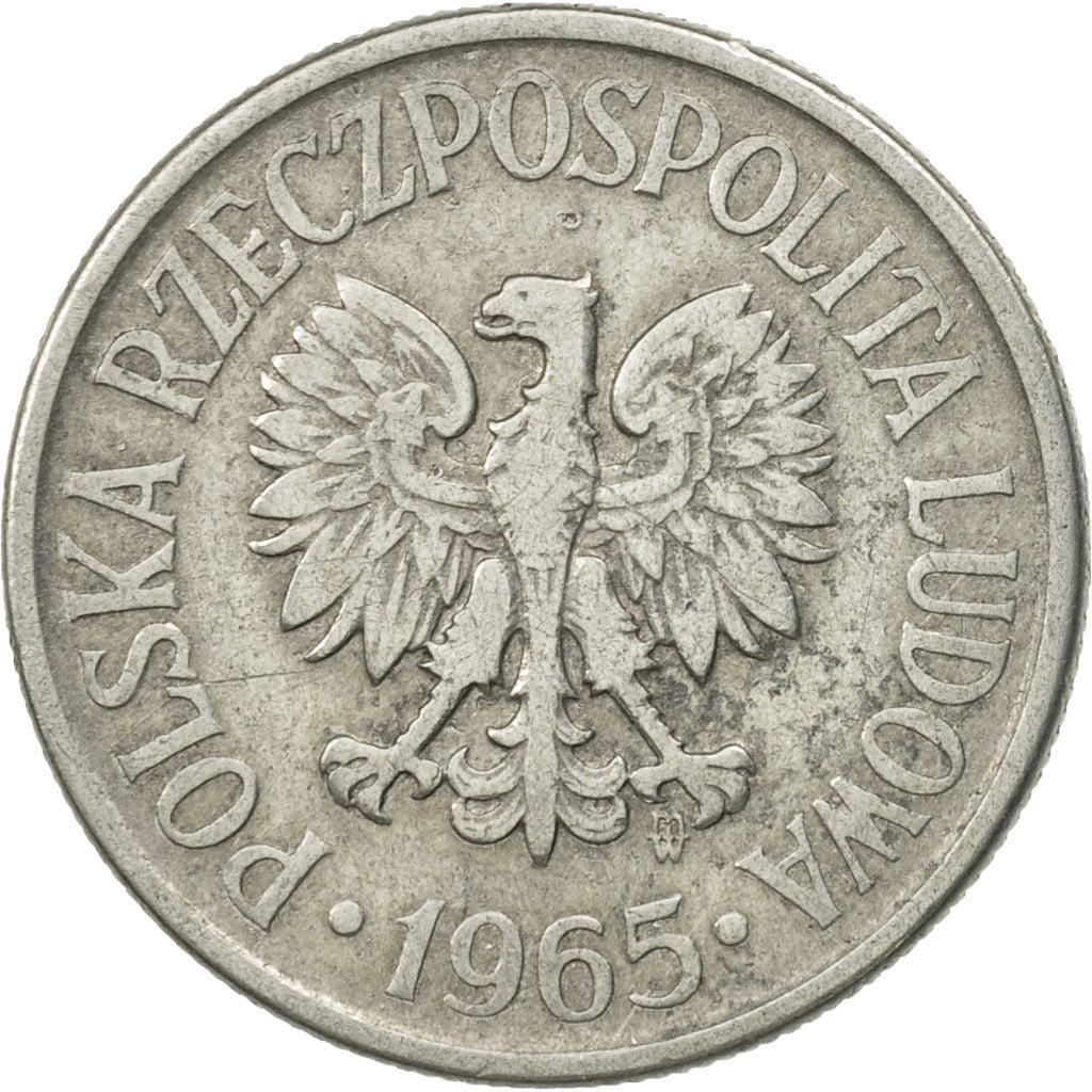 Poland 1965-20 Groszy Aluminum Coin Eagle with wings open