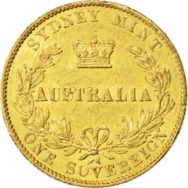 AUSTRALIA, Sovereign, 1866, Sydney, KM #4, AU(55-58), Gold, 7.99