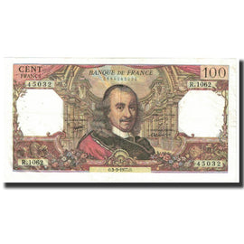 France, 100 Francs, Corneille, 1977, 1977-03-03, EF(40-45), Fayette:65.57