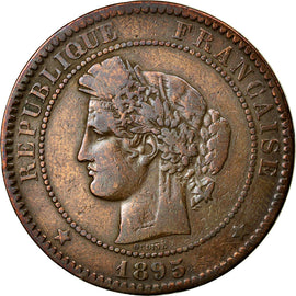 Coin, France, Cérès, 10 Centimes, 1895, Paris, VF(20-25), Bronze, KM:815.1