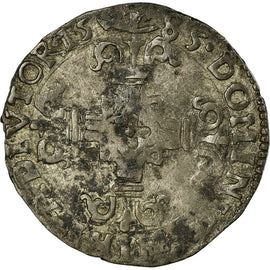 Coin, France, 1/20 Ecu, 1585, Arras, VF(30-35), Silver, Boudeau:1982