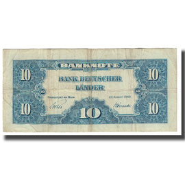 Banknote, GERMANY - FEDERAL REPUBLIC, 10 Deutsche Mark, 1949, 1949-08-22