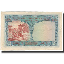 Banknote, FRENCH INDO-CHINA, 1 Piastre = 1 Dong, 1954, KM:105, AU(55-58)