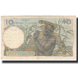 Banknote, French West Africa, 10 Francs, 1952-12-19, KM:37, EF(40-45)