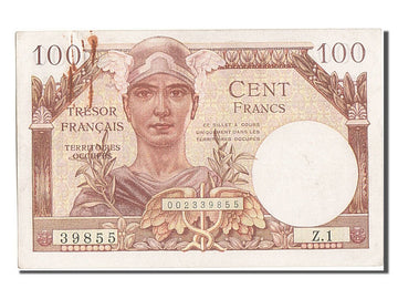 Banknote, France, 100 Francs, 1947 French Treasury, 1947, UNC(63)