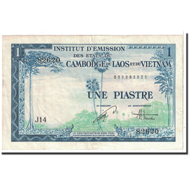 Banknote, FRENCH INDO-CHINA, 1 Piastre = 1 Dong, 1954, KM:105, AU(50-53)