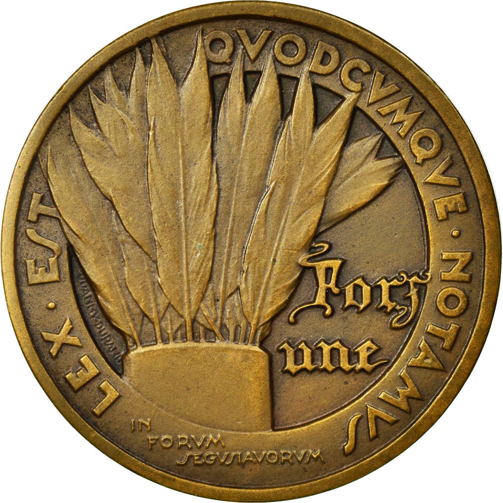 France, Token, Notary, 1936, AU(55-58), Bronze, Lerouge:470