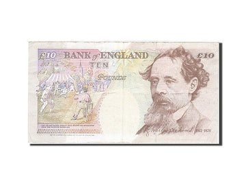 Banknote, Great Britain, 10 Pounds, 1993, 1993-1998, KM:386a, AU(55-58)