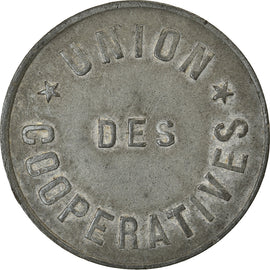 Coin, France, Union des Coopératives, Paris, 5 Centimes, EF(40-45), Zinc