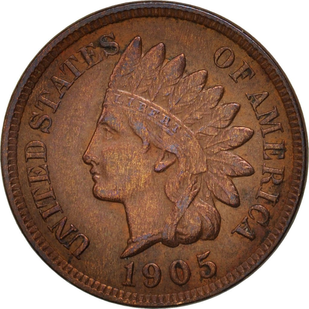 Coin, United States, Indian Head Cent, Cent, 1905, U.S. Mint, Philadelphia