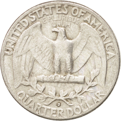 United States, Washington Quarter, 1962, Denver, KM:164, EF(40-45)