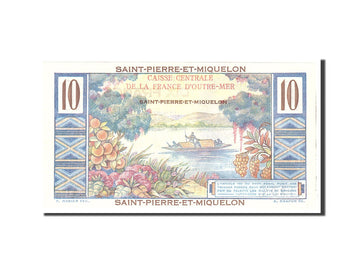 Banknote, Saint Pierre and Miquelon, 10 Francs, 1950, Undated, KM:23, UNC(65-70)