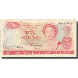 Banknote, New Zealand, 5 Dollars, Undated (1981-92), KM:171b, VF(30-35)