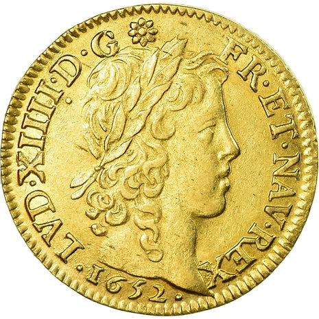 Coin, France, Louis XIV, Louis d'or à la mèche longue, Louis d'Or, 1652