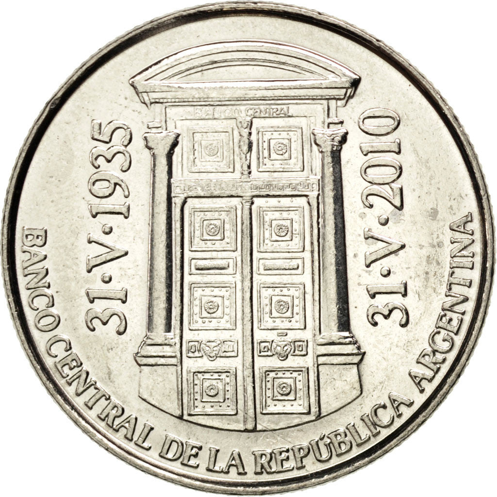 Coin, Argentina, 2 Pesos, 2010, MS(63), Copper-nickel, KM:162
