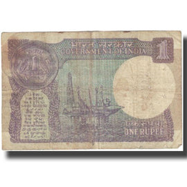 Banknote, India, 1 Rupee, Undated (1988), KM:78Ab, VG(8-10)