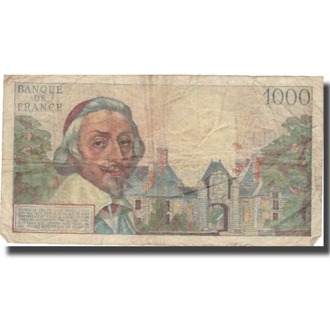 France, 1000 Francs, 1 000 F 1953-1957 ''Richelieu'', 1955, 1955-11-03
