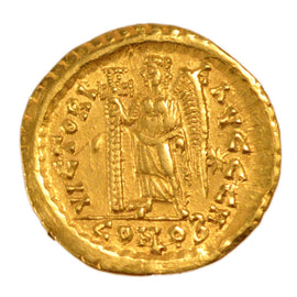 8. The End of Empire (363 AD to 476 AD), Solidus, Constantinople, AU(55-58),...