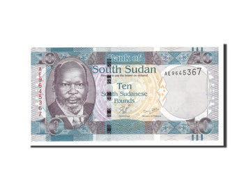 South Sudan, 10 Pounds, 2011, Undated, KM:7, UNC(65-70)