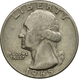 Coin, United States, Quarter, 1965, Philadelphia, VF(30-35), Copper-Nickel Clad