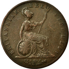 Coin, Great Britain, George IV, 1/2 Penny, 1826, EF(40-45), Copper, KM:692