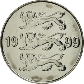 Coin, Estonia, 20 Senti, 1999, no mint, MS(65-70), Nickel plated steel, KM:23a