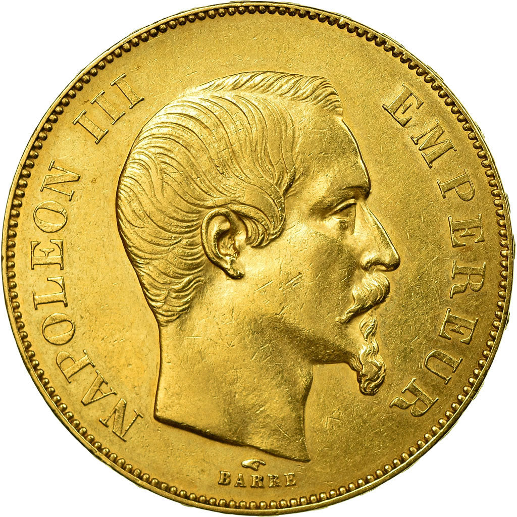 Coin, France, Napoleon III, 50 Francs, 1856, Paris, AU(50-53), Gold