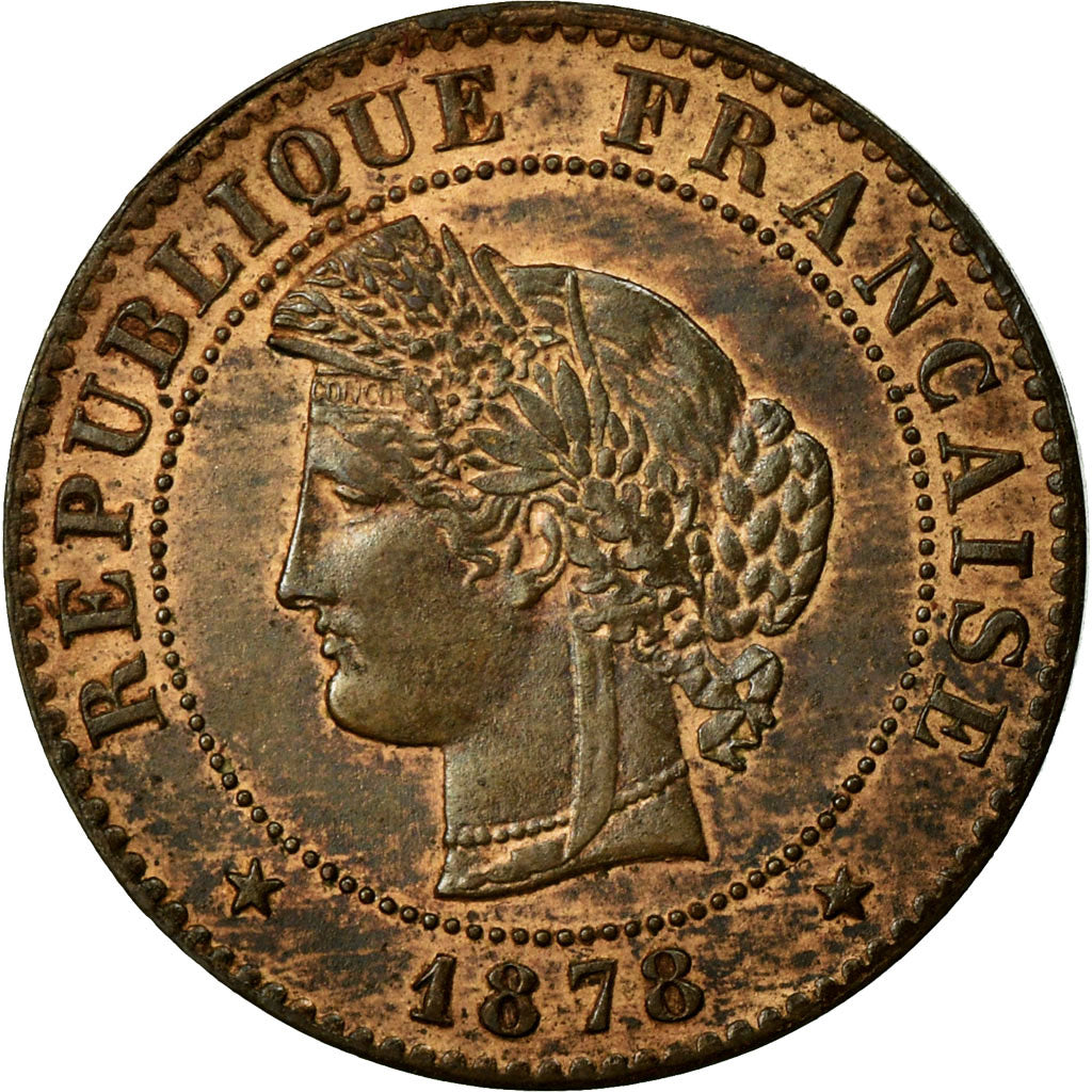 Coin, France, Cérès, Centime, 1878, Paris, AU(55-58), Bronze, Gadoury:88