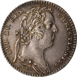 France, Token, Royal, 1732, AU(50-53), Copper, Feuardent:2033