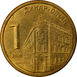Coin, Serbia, Dinar, 2009, EF(40-45), Copper Plated Steel, KM:48