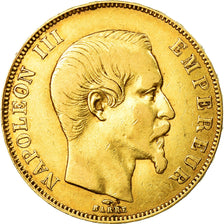 Coin, France, Napoleon III, 50 Francs, 1857, Paris, VF(30-35), Gold