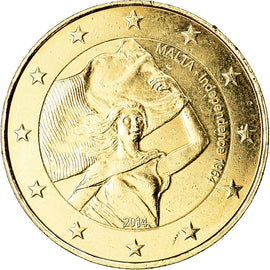 Malta, 2 Euro, Indépendance, 2014, golden, MS(63), Bi-Metallic