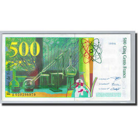 Banknote, France, 500 Francs, 1994, Undated (1994), UNC(64), Fayette:76.1