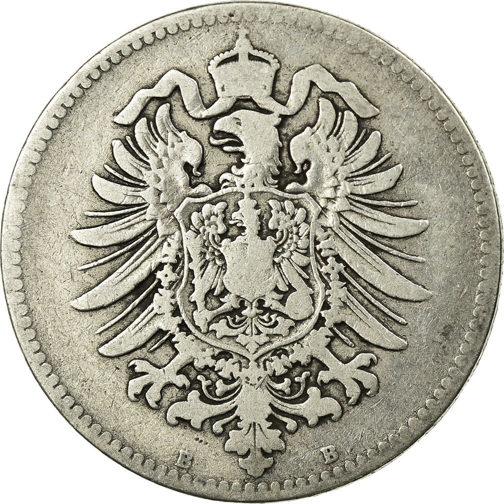 Coin, GERMANY - EMPIRE, Wilhelm I, Mark, 1874, Hanovre, VF(20-25), Silver, KM:7