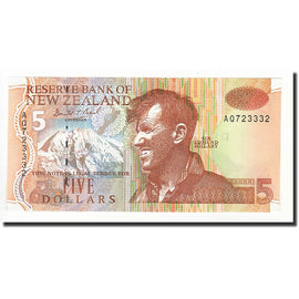 Banknote, New Zealand, 5 Dollars, UNDATED (1992-1997), KM:177a, UNC(65-70)