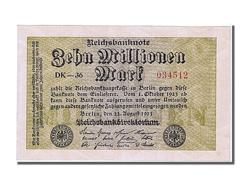Banknote, Germany, 10 Millionen Mark, 1923, 1923-08-22, UNC(65-70)
