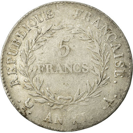 Coin, France, 5 Francs, An XI, Paris, F(12-15), Silver, KM:650.1, Gadoury:577