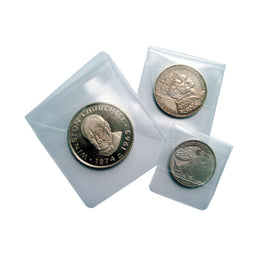 Coin pockets, 50x50 mm, Set of 50, Safe:1298