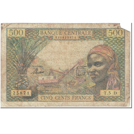 Banknote, EQUATORIAL AFRICAN STATES, 500 Francs, 1963, Undated (1963), KM:4h