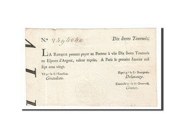 Banknote, France, 10 Livres, 1720, 1720-01-01, EF(40-45), KM:A16b, Lafaurie:89