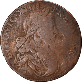 France, Token, Louis XIV, La Ville de Paris, 1656, VF(20-25), Copper